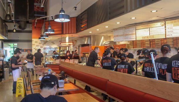 Blaze Pizza Dining Room