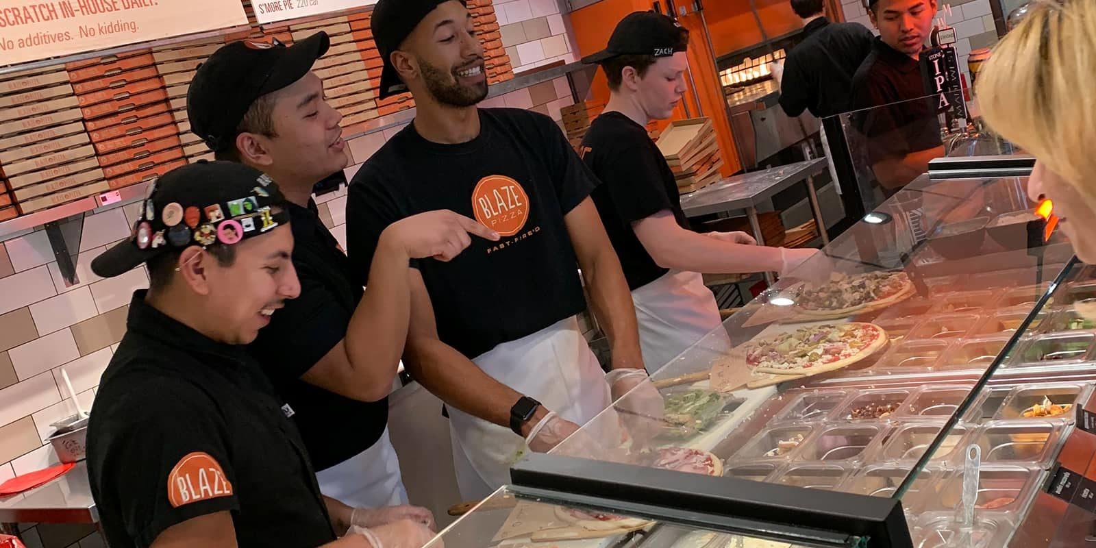 Blaze Pizza Crew Making Pizza