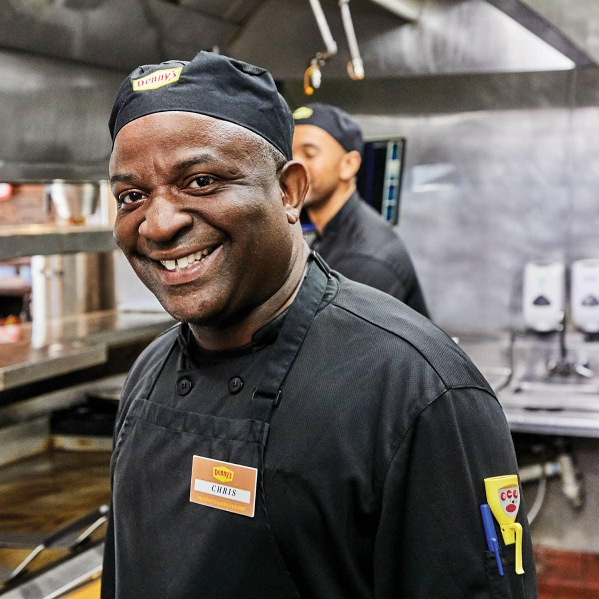 Smiling Denny's Chef